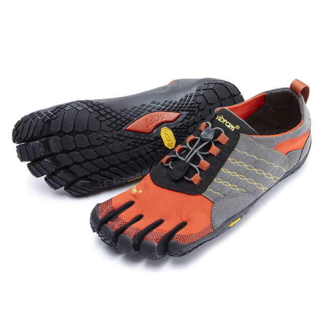 Men Vibram FiveFingers TREK ASCENT Grey / Red / Black Outlet Online