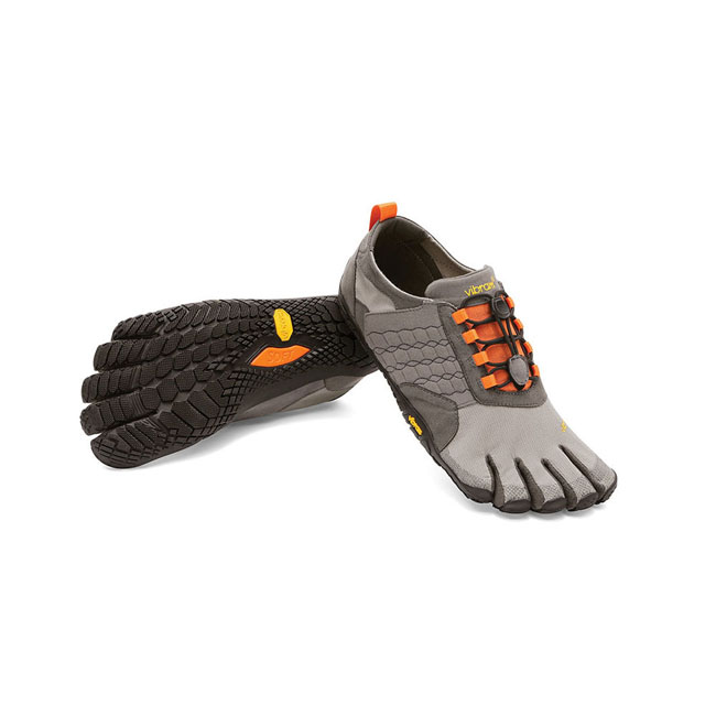 Men Vibram FiveFingers TREK ASCENT Grey / Black / Orange Outlet Online