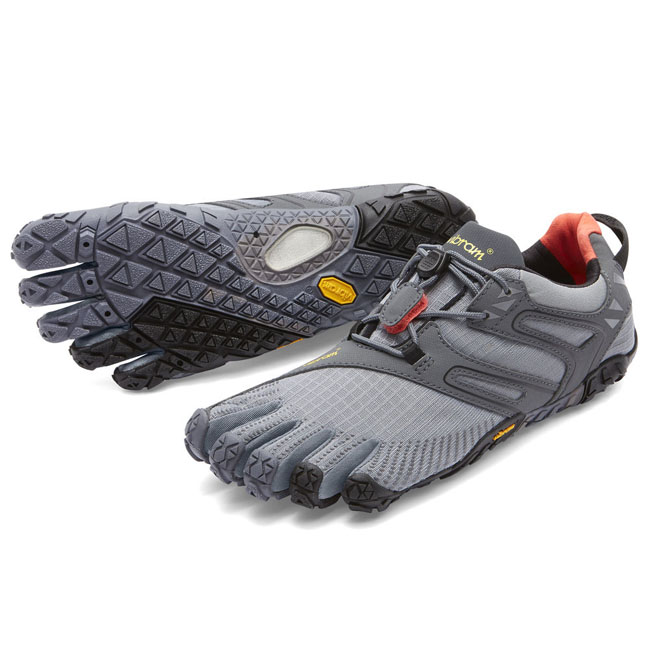 Men Vibram FiveFingers V-TRAIL Grey / Black / Orange Outlet Online