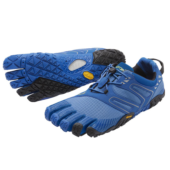 Men Vibram FiveFingers V-TRAIL Blue / Black Outlet Online