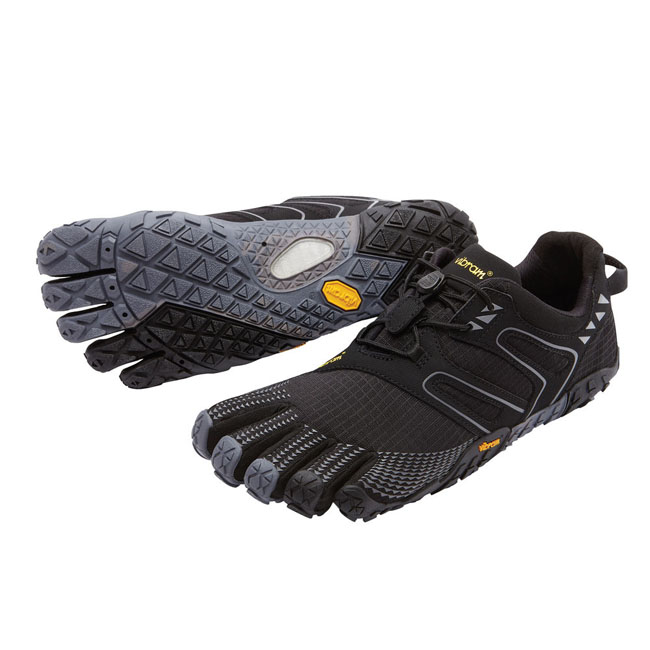 Men Vibram FiveFingers V-TRAIL Black / Grey Outlet Online