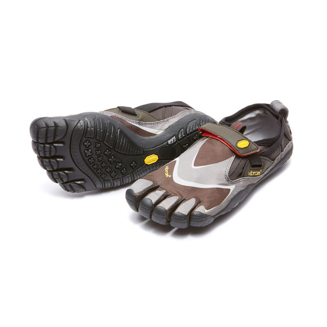 Vibram FiveFingers Men TREK PRO Black / Grey / Red On Sale
