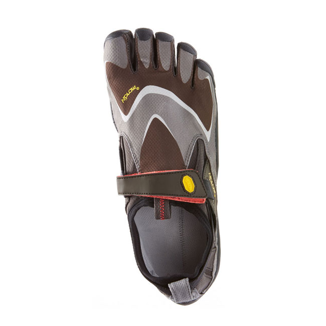 Men Vibram FiveFingers TREK PRO Black / Grey / Red Outlet Online