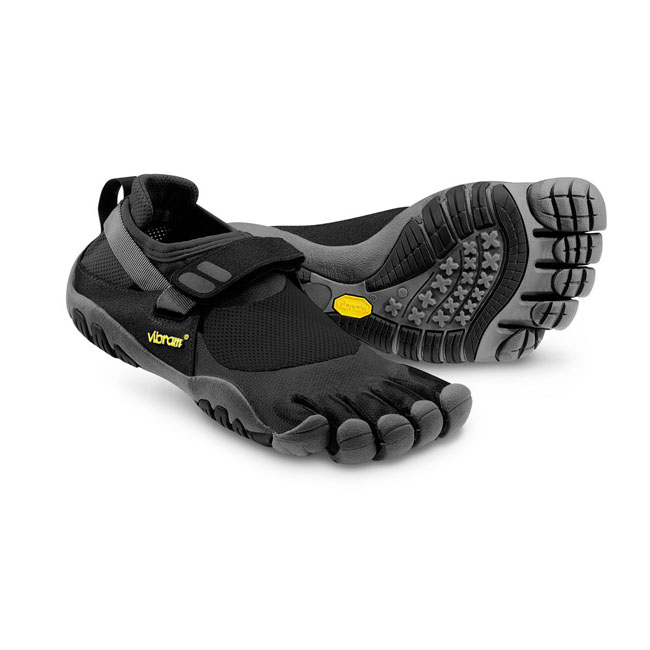 Men Vibram FiveFingers TREKSPORT Black / Charcoal Outlet Online