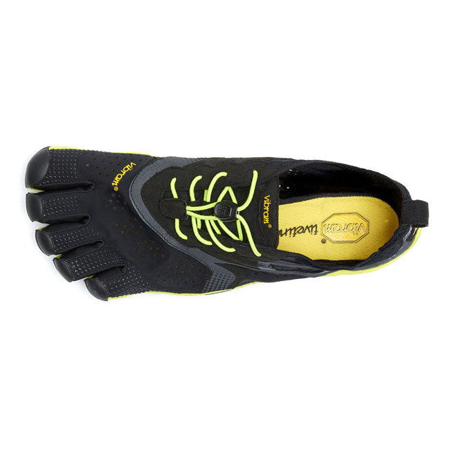 Cheap Vibram FiveFingers V-RUN Black / Yellow Men Online