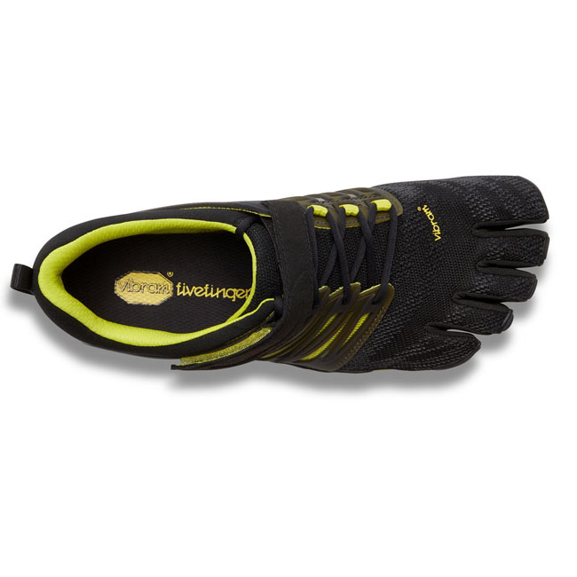 Men Vibram FiveFingers V-TRAIN Black / Green Outlet Online