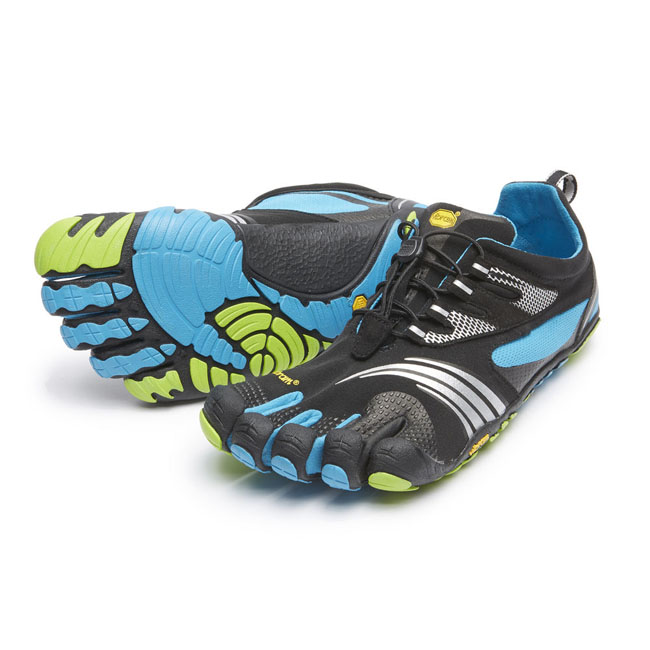 Cheap Vibram FiveFingers KMD SPORT LS Black / Blue / Green Men Online