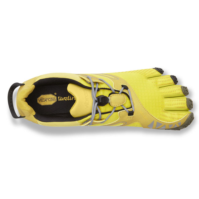 Women Vibram FiveFingers V-TRAIL Yellow / Black Outlet Online