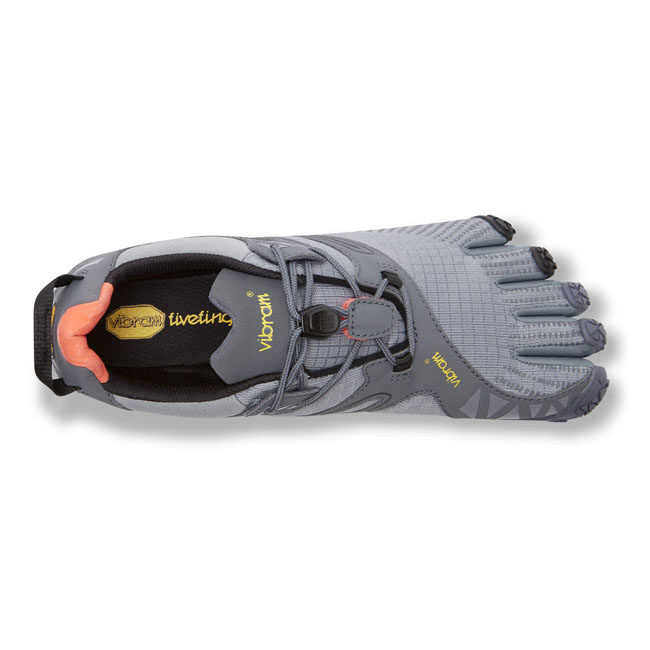 Women Vibram FiveFingers V-TRAIL Grey / Black / Orange Outlet Online
