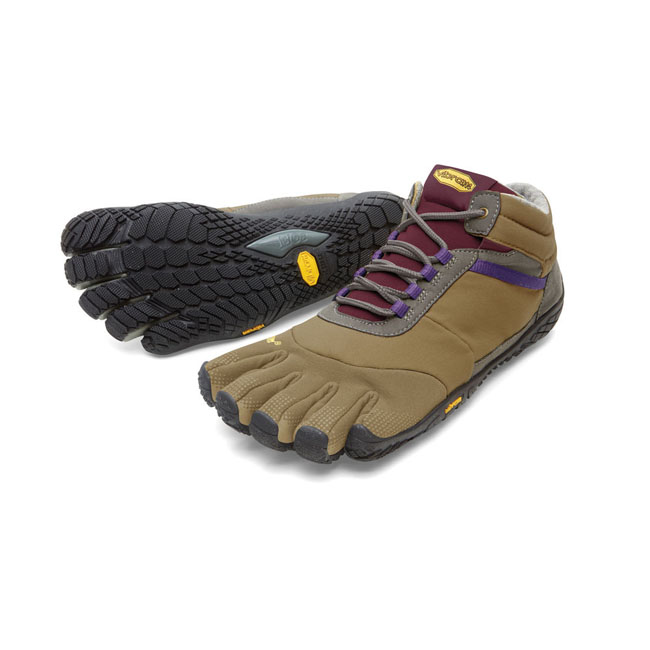 Women Vibram FiveFingers TREK ASCENT INSULATED Khaki / Grape Outlet Online