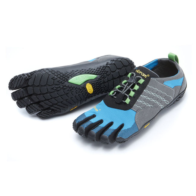 Women Vibram FiveFingers TREK ASCENT Grey / Blue / Green Outlet Online