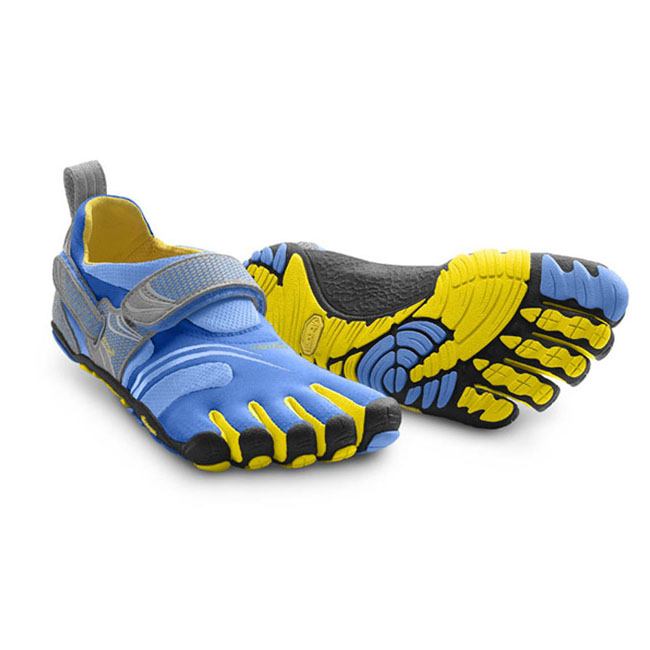 Women Vibram FiveFingers KMD SPORT Blue / Yellow / Grey Outlet Online