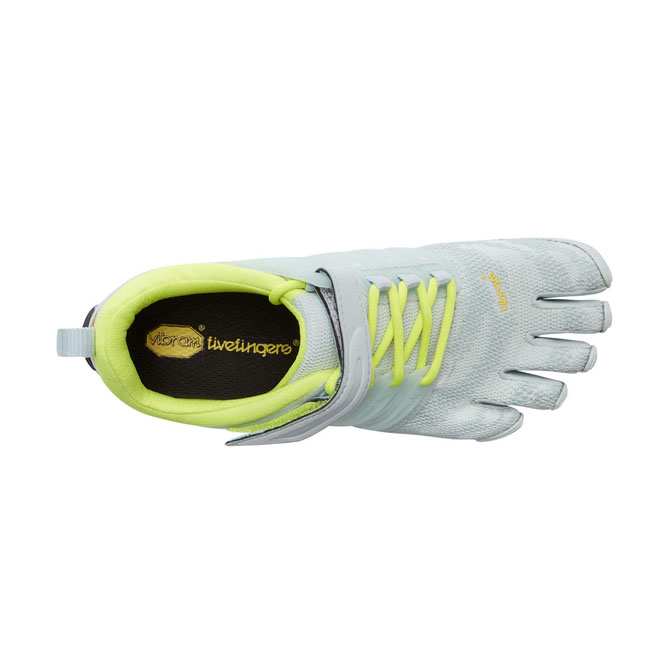 Women Vibram FiveFingers V-TRAIN Pale Blue / Safety Yellow Outlet Online