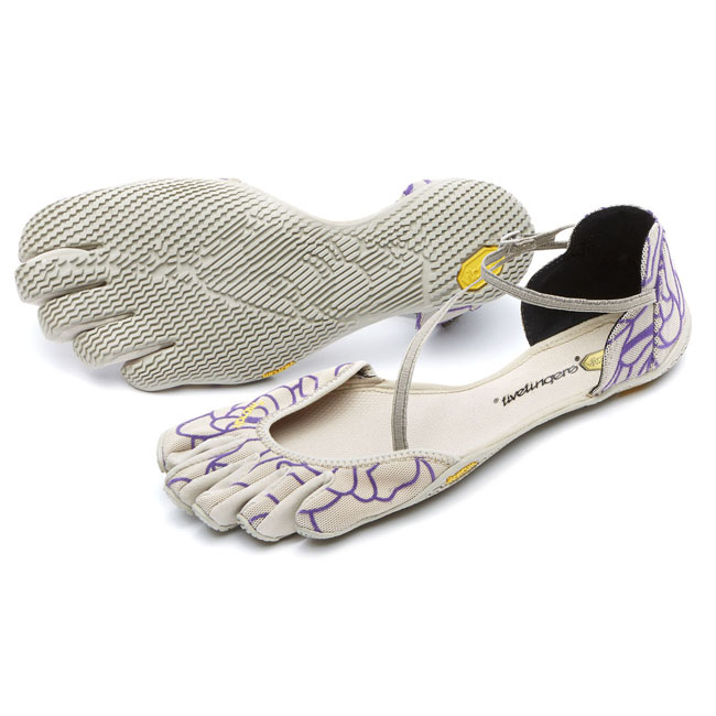 Women Vibram FiveFingers VI-S Beige / Royal Purple Outlet Online