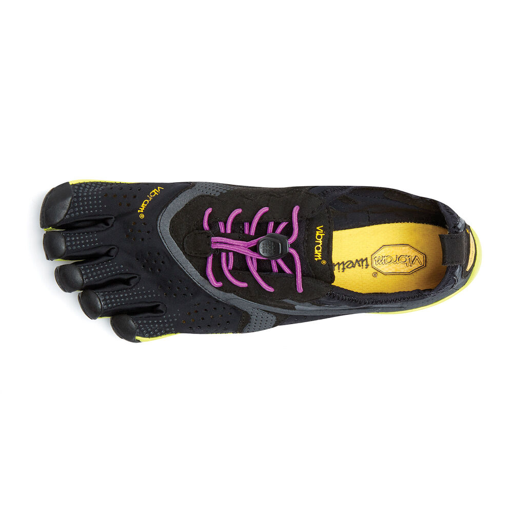 Vibram Fivefingers V-RUN WOMEN\'S Black / Yellow / Purple Outlet Online
